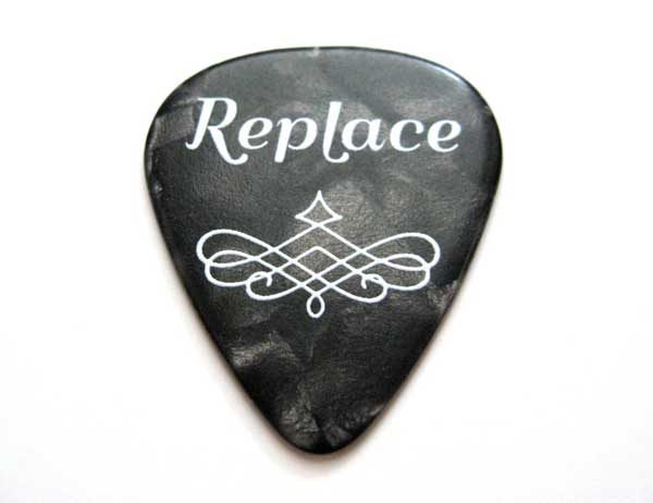 replace guitar pick golf ball marker - black