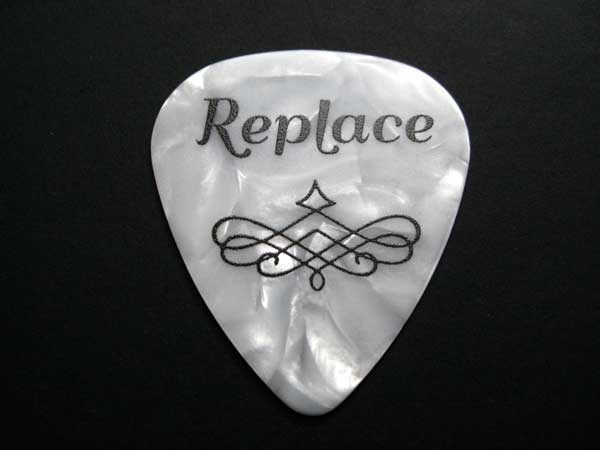 replace guitar pick golf ball marker - white