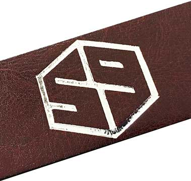 59 style leather belt strap - brown