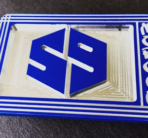 59 tournament players crew belt buckle - translucent blue