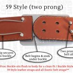 59 Style Belt Buckle Fitting System – Two-prong