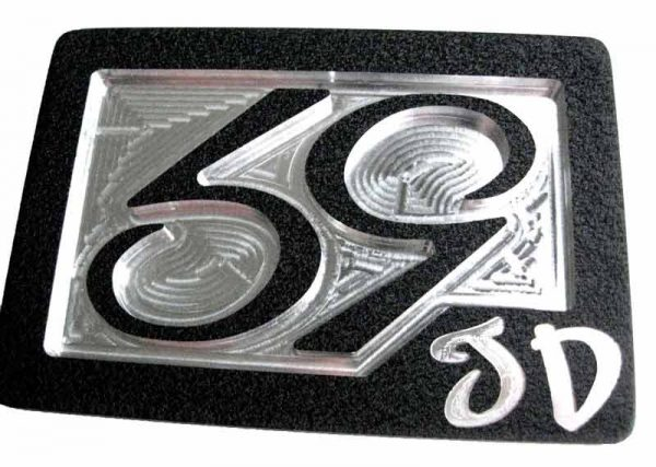 59 crew se phenom logo belt buckle - white