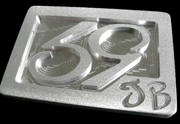 59 crew se phenom logo belt buckle - brushed