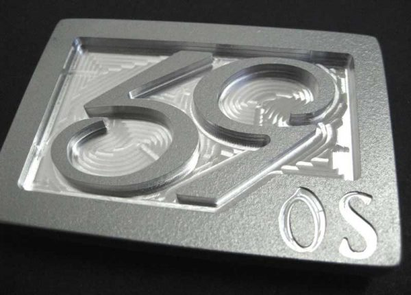 59 crew se phenom logo belt buckle - textured silver