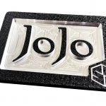 Custom initials Belt Buckle Black CM4 Black