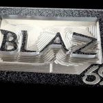 Custom Aluminum Initials Belt Buckle CM4 Black Font Option 8