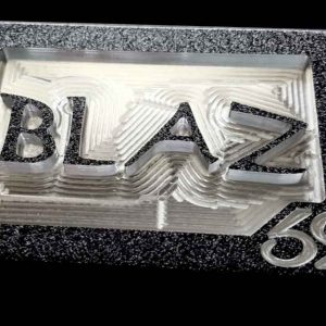 custom personal initials monogram belt buckle with blaz lettering