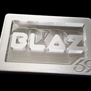 custom personal initials monogram brushed belt buckle with blaz lettering
