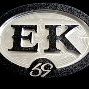 custom oval personal ek initials belt buckle