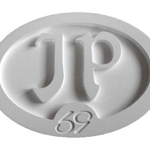 whited out custom oval personal jp initials belt buckle