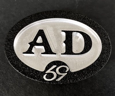 custom oval personal ad initials belt buckle