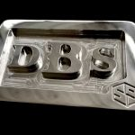 Stainless Steel Custom Personalized Initials Belt Buckle – Font Option 1