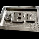 Stainless Steel Custom Personal Initials Belt Buckle – Font Option 1