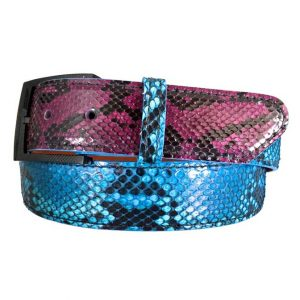 double cross exotic belt python on python