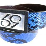59 Style Genuine Exotic Python Belt Strap – Blue