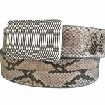 59 Style Genuine Exotic Python Belt Strap – Grey
