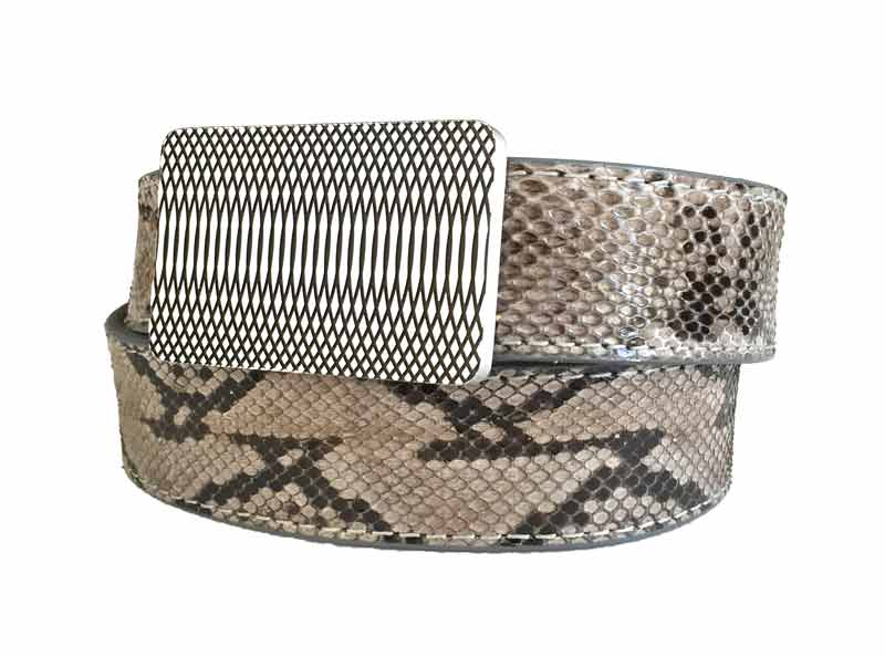 59 style grey python belt strap on a 59 belt buckle