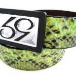 59 Style Genuine Exotic Python Belt Strap – Lime