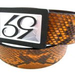 59 Style Genuine Exotic Python Belt Strap – Orange