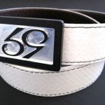 59 Style Genuine Exotic Python Belt Strap – White