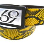 59 Style Genuine Exotic Python Belt Strap – Yellow