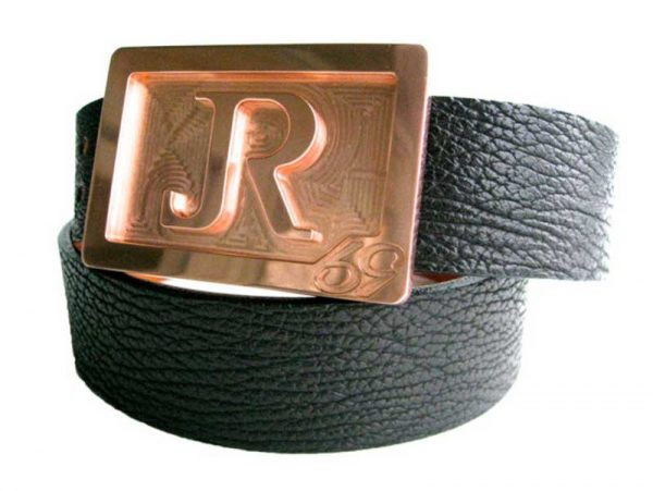 59 style genuine exotic shark belt - black - exotic belt buckles