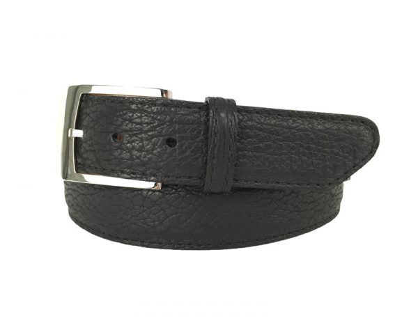 genuine exotic shark belt strap in black