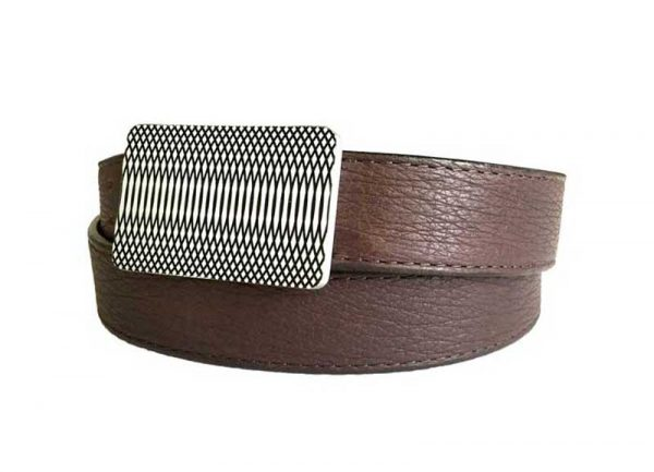 59 style genuine exotic shark belt - brown