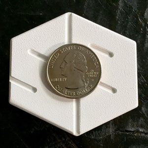 gyb buckle size compared to a quarter