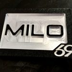 Custom initialed Belt Buckle Black CM4 Black