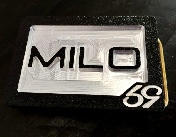 custom personal initials monogram belt buckle with milo letters