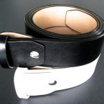 traditional fit black and white leather belt straps