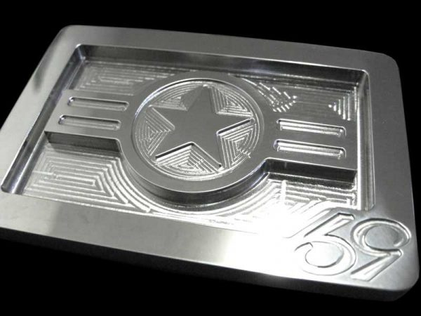 spitfire usaf roundel belt buckle cnc milled from solid stainless steel