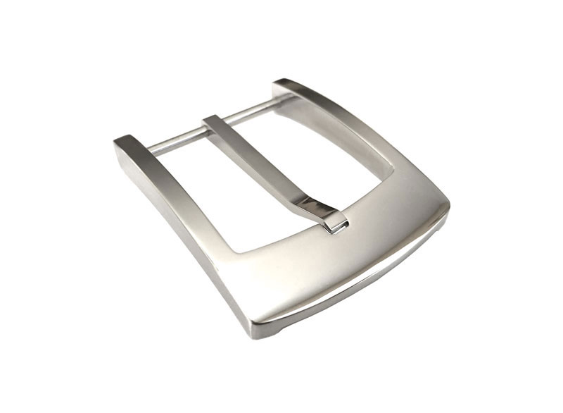 polished chrome stainless steel belt buckle