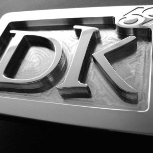 custom stainless steel dk personal initials belt buckle