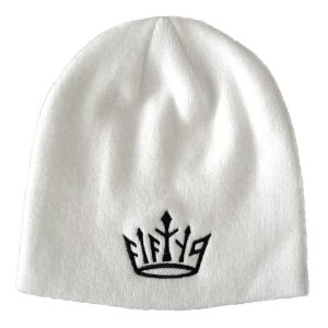 dornoch winter hat golf beanie - white