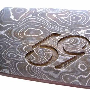 59 custom damascus steel belt buckle