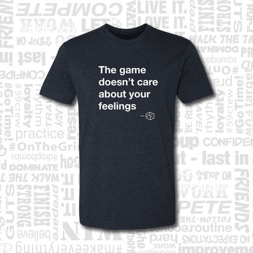 the game doesn't care about your feelings golf t-shirt