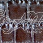 Genuine Brown Matte Alligator Belt Sample Swatch