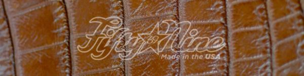 cognac genuine matte american alligator belt sample image