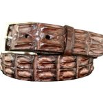 Genuine Australian Saltwater Hornback Crocodile Belt Strap – Brown
