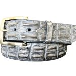 Genuine Australian Saltwater Hornback Crocodile Belt Strap – Grey