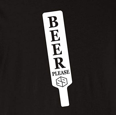 beer please golf t-shirt for golfer who like beer