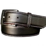 Customizable Pebble Black Calfskin Belt Strap