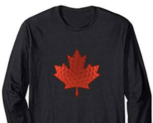 canada maple leaf golfer long sleeve t shirt
