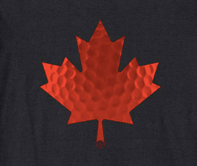 canadian maple leaf golfer t-shirt