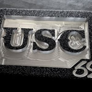custom college usc letters team belt buckle - black