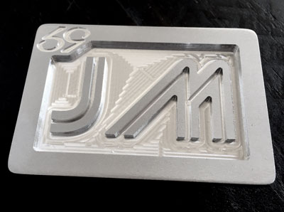 custom personalized jm two initials belt buckle - brushed silver