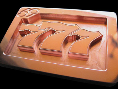 gamblers 777 slot machine style custom logo copper belt buckle