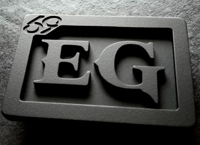 custom personalized EG two initials belt buckle - murdered out